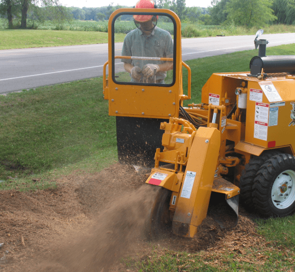 An image of stump grinding in Tustin, CA.